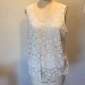 Topshop Lace tank top